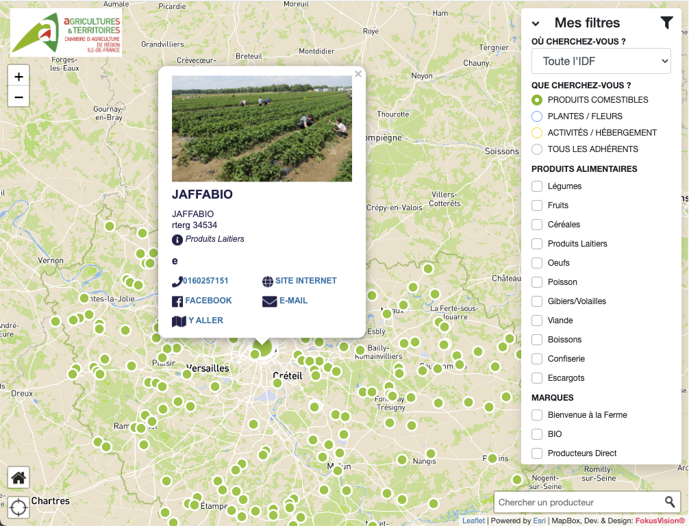 Carte chambre agriculture